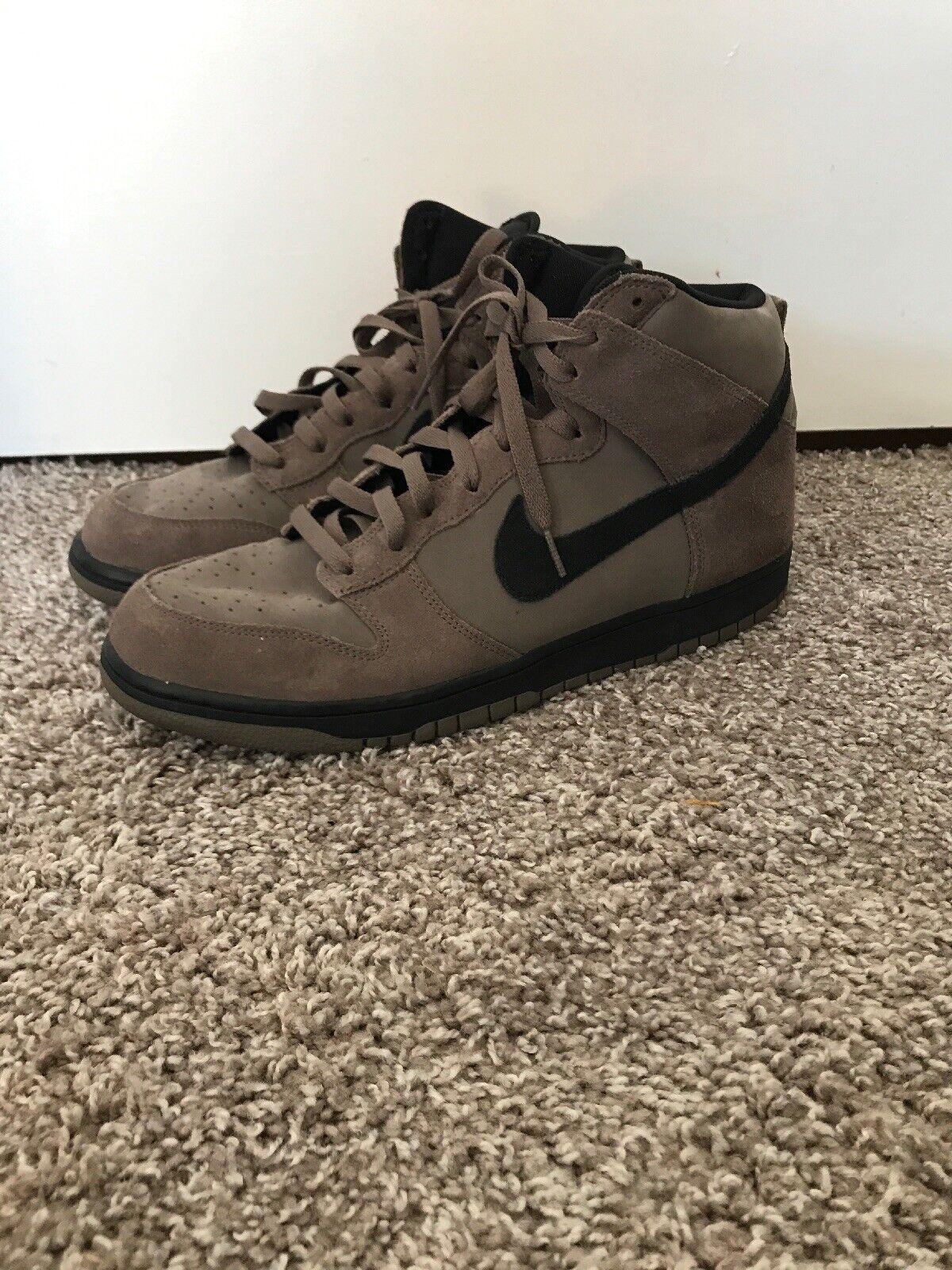 Nike Dunk Hi Tan Black Size 13 Men shoes 2016  904233 200. Used