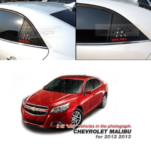 C Pillar Window Glass Sports Plate Molding Red Logo For CHEVY 2012-2016 Malibu