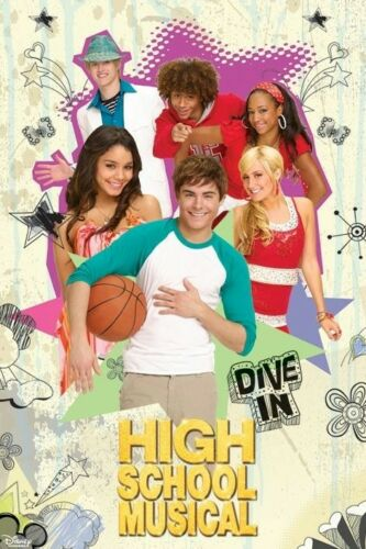 MOVIE POSTER ~ HIGH SCHOOL MUSICAL 2 DOODLE CAST