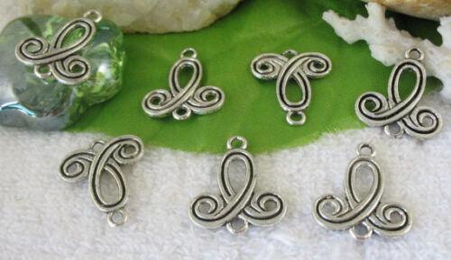 50pcs Tibetan silver ribbon connectors links FC9355