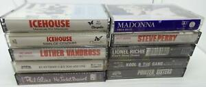 10-80-039-s-Music-Cassette-Tape-Lot-Lot-202-Ice-House-Madonna-Steve-Perry