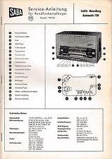 instrucciones Manual de servicio para Saba Meersburg Automatic 100