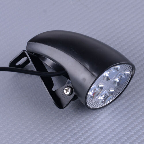 36V 48V 4 LED Front Headlight Head Lamp With Horn Fit For E-Bike Scooter New