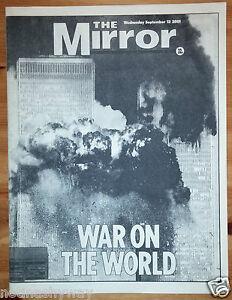 Daily-Mirror-9-11-Newspaper-September-11th-2001-Terrorists-Attacks-New-York-City
