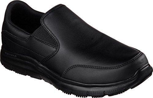 77071 Skechers Mens Work Relaxed Fit Bronwood Black Loafer Slip Resistant