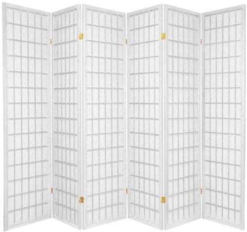 3 4 5 6 8 Panel Wood Room Divider Screen Shoji White 71 H Screens Room Dividers Home Garden