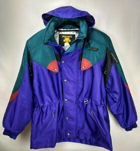10439af04 Details about Vintage Descente Mens Ski Jacket Coat Size Large 52 Purple  Full Zip Hooded Parka