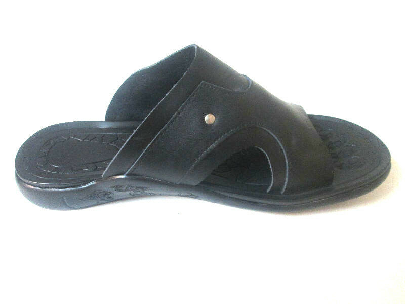 J.Bosco Men Leather sandals Black SE5 Slide Open-Toe comfort*Toe-Gr<wbr/>ip Ergonomic