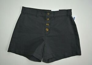 New-Old-Navy-Charcoal-Women-039-s-Size-4-High-Waisted-Button-Fly-Twill-Shorts