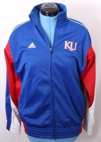 Mens Size 4XL 54 Blue Nylon by Russel Athletic KU Jayhawks Windbreaker Sideline Warmup Jacket with University of Kansas Jayhawk Patch