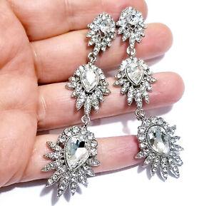 Chandelier-Earrings-Rhinestone-Clear-Crystal-3-3-inch