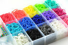 RAINBOW LOOM RUBBER BAND REFILL 600 AND 24 c-CLIPS 28 COLORS BIG SALE