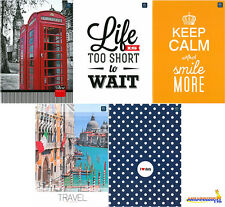 HARD COVER A4 NOTEBOOK NOTEPAD SCHOOL JOURNAL - LINE 96 SHEETS - VARIOUS DESIGNS
