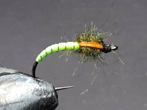9  FLUO GREEN BUZZERS FOR FLY FISHING BUZZ 63