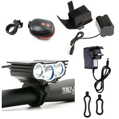 New Bicycle Bike Cycling Cree LED X3 Headlamp Front Head Light Torch UK Stock
