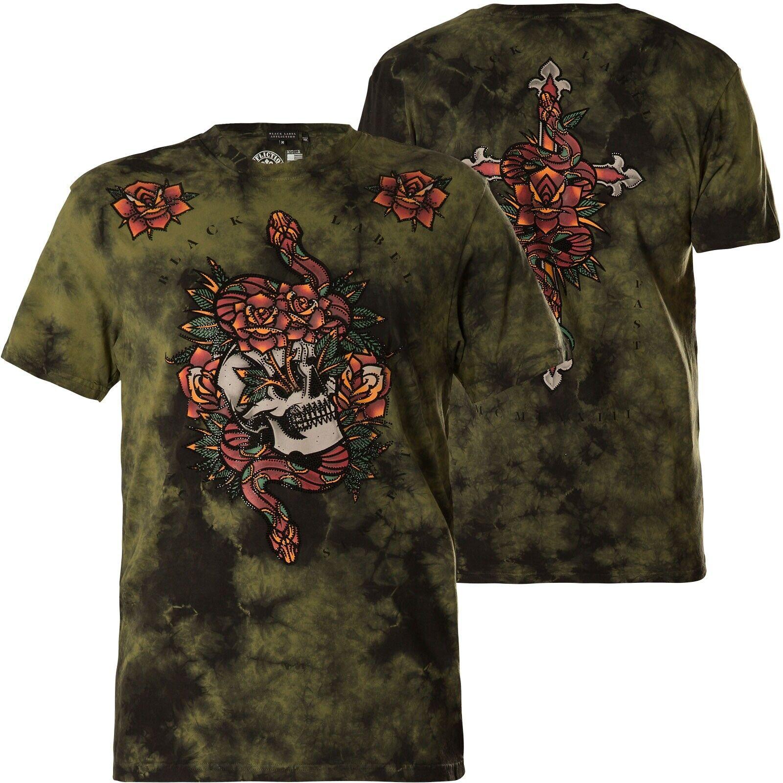 AFFLICTION T-Shirt Sacred Serpent green T-Shirts