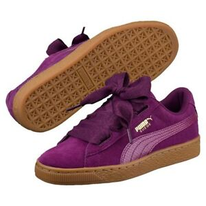 088e1aaccf85 Puma Suede heart SNK JR 364918-01 Dark Purple Women Junior Shoes