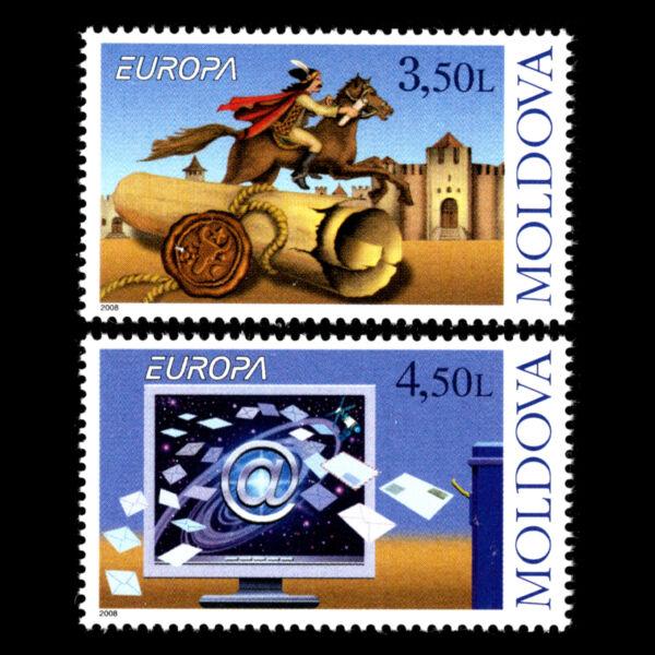 Agressif Moldova 2008-europa Timbres-écrire Des Lettres-sc N/a Neuf Sans Charnière Clair Et Distinctif