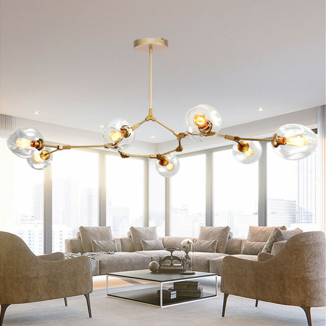 Modern Ceiling Lights Lobby Gold LED Chandelier Kitchen