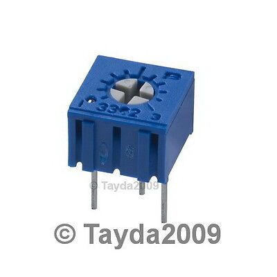 5 x 100K OHM CERMET POTENTIOMETER 1 TURN 3362 3362P - Free Shipping