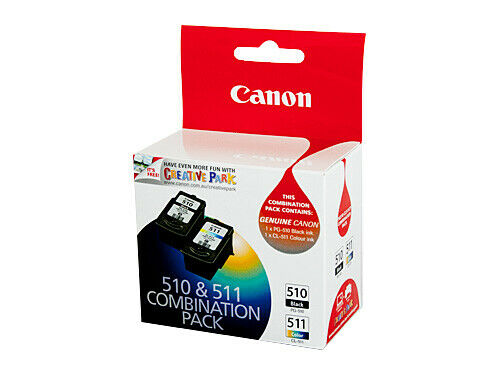 Canon PG-510 CL-511 Twin Pk 510 Black & 511 Color Combination Pack Ink Cartridge