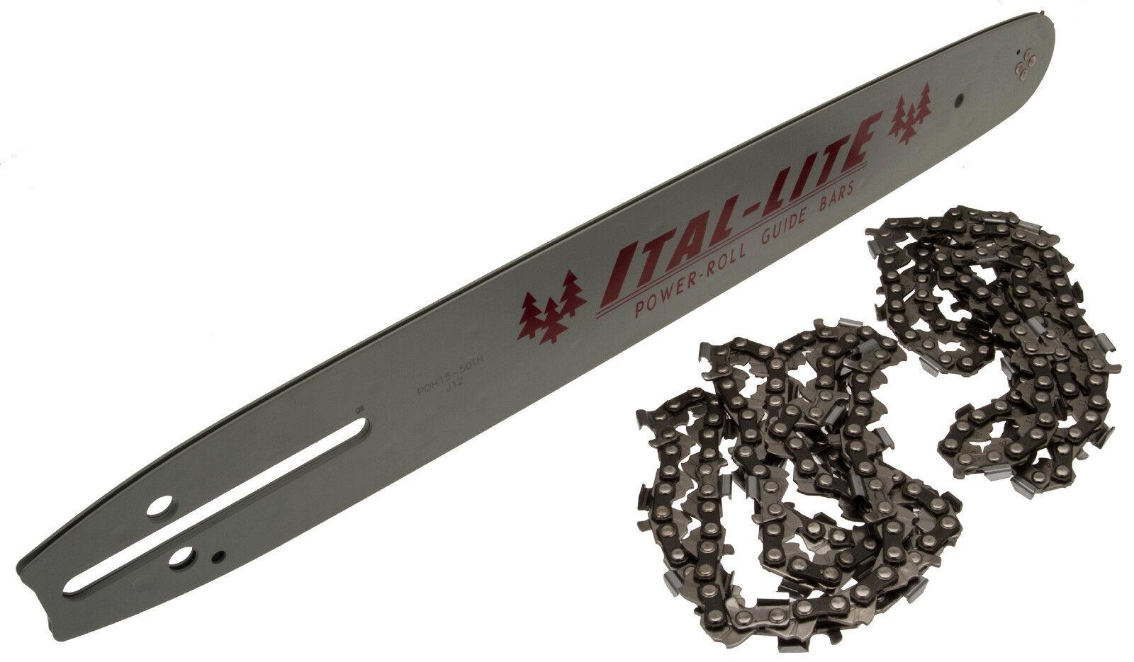 "Guide Bar /& Chainsaw Chain  Pack Fits Many HUSQVARNA 133 136 137 141 15/"" 18/"""