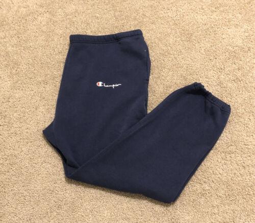 Vintage Champion Sweatpants 80s Blue Mens XL