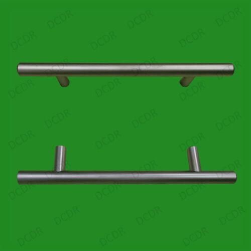 6x 96mm Matte Chrom Effekt T-Griff bar Tür Schublade Griff Kleiderschrank