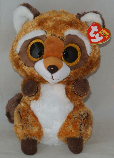 689fa3a70f2 2018 Ty Beanie Boos Rusty The Raccoon Medium Buddy 9