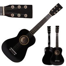 "New 25"" Beginners Acoustic Guitar 6 String with Pick Children Kids Gift Black"