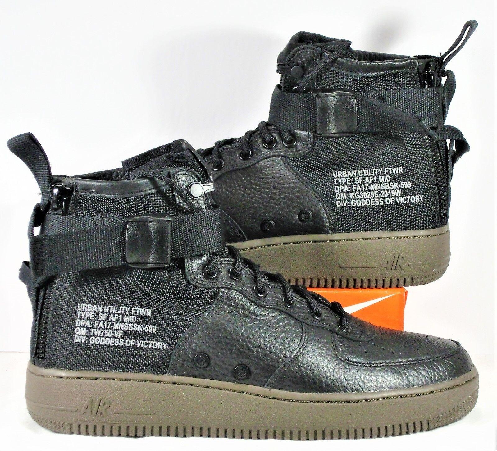 Nike sf af1 mitte special forces air force schwarzen schwarzen schwarzen dunkle braune sz 9 neue 917753 002 c2b62f