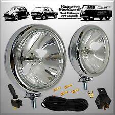 BMW Mini Classic Vintage Chrome Spot Lights Fog Lamps & Relay Switch Wiring Kit
