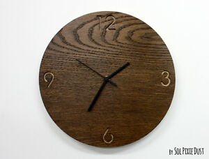 30 cm MDF Wooden Clock Face Dial With Numbers Wall Hanging Decoration Crafts D