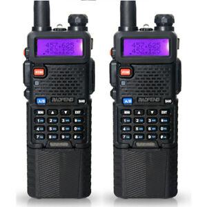 2x-BaoFeng-UV-5R-Two-Way-Ham-Radio-3800mah-Battery-VHF-UHF-Walkie-Talkie-128CH