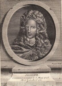 Portrait-XVIIIe-Joseph-Ier-Empereur-des-Romains-Habsbourg-Autriche-Vienne