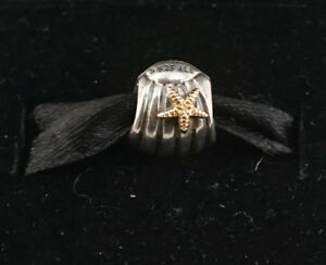 d82c9898f Authentic Pandora Two Tone Silver & 14k Gold Seashell w/ Starfish ...
