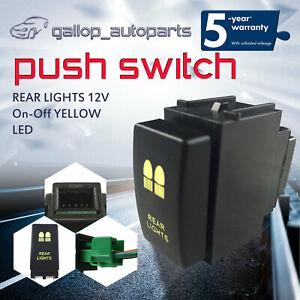 Yellow-REAR-LIGHTS-Push-Switch-Fit-Nissan-Navara-Pathfinder-Patrol-X-Trail-T31