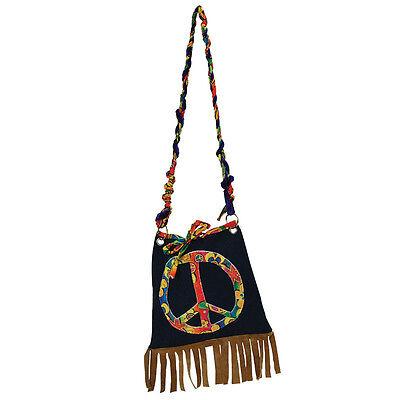Sparsam Weiblich # Hippy Psychedelische Handtasche Groovy Woodstock Kostüm Zubehör Erfrischend Und Wohltuend FüR Die Augen