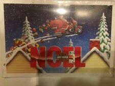 10 HARLEY DAVIDSON CHRISTMAS CARDS #X424 SANTA ON HARLEY DELIVERS PRESENTS