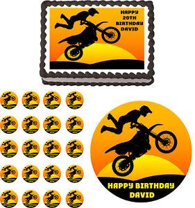 Motocross Edible Cake Topper