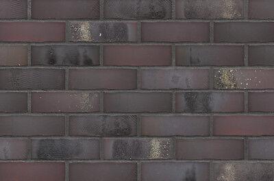UnermüDlich Strangpress Klinker-riemchen Nf-format Anthrazit Violett Und Braun Verblender Mit Einem LangjäHrigen Ruf Klinker