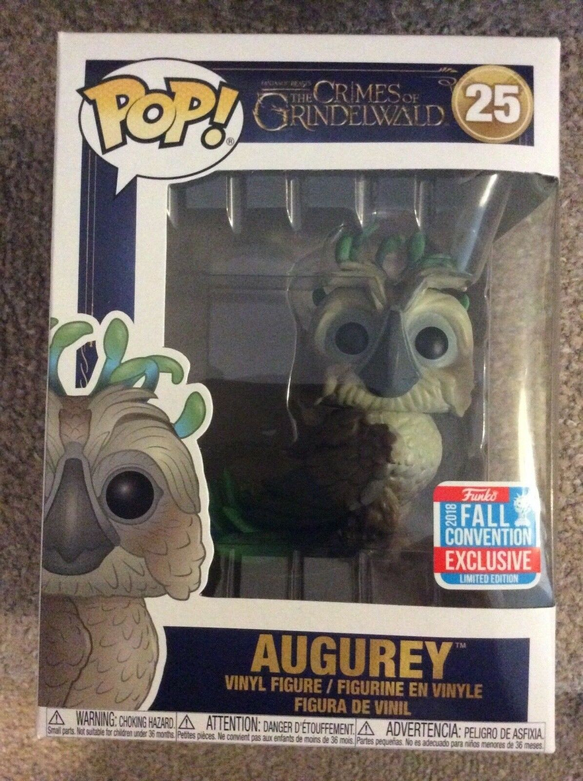 Funko Pop Figure - AUGUREY  25 NYCC Exclusive The Crimes Of Grindelwald New