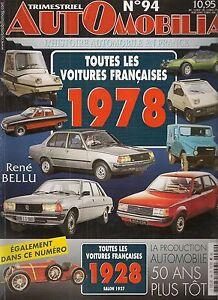 AUTOMOBILIA-94-LES-VOITURES-FRANCAISES-1978-et-1928-SALON-1927