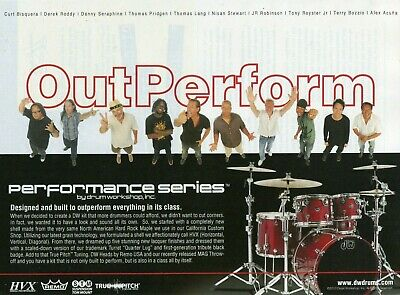 1994 Print Ad of DW Drum Workshop w Dave Abbruzzese Pearl Jam