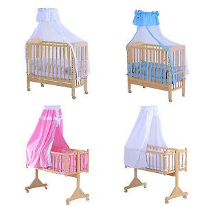 homcom babybettset babybett beistellbett gitterbett babywiege schaukelwiege. Black Bedroom Furniture Sets. Home Design Ideas