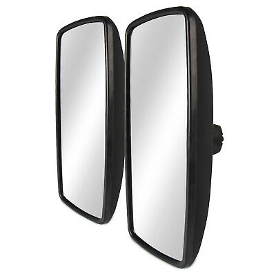 2PCS For Freightliner M2 Columbia Side View Wide Manual Heated Mirrors