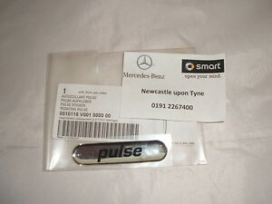 Genuine-Smart-Fortwo-034-PULSE-034-Front-Wing-Badge-Decal-A4508171220-NEW