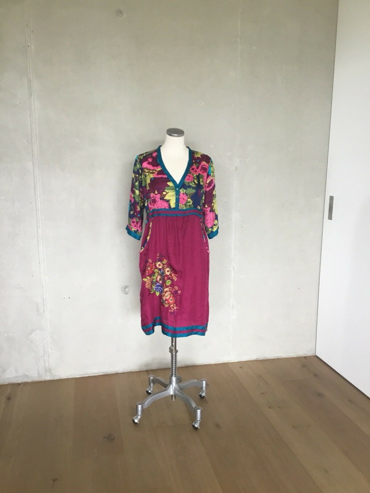 Johnny Was  LA Seidenkleid Kleid  Tunika Gr S   34 36 Traumhaft