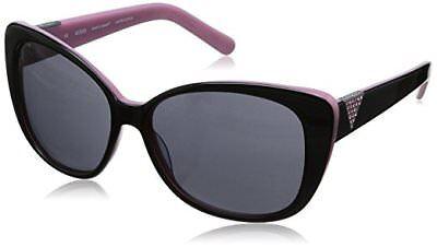 NWT Guess Sunglasses GU 7276 C33 Top Black Pink Gray 58 mm GU7276 NIB