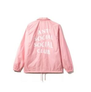 e669eabe8fc4 100% Authentic Anti Social Social Club Coach Jacket Pink Windbreaker ...
